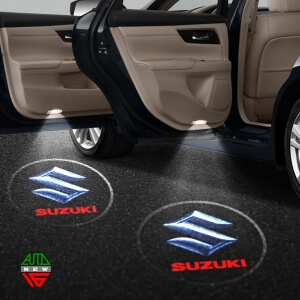 Лазерная проекция с логотипом Suzuki