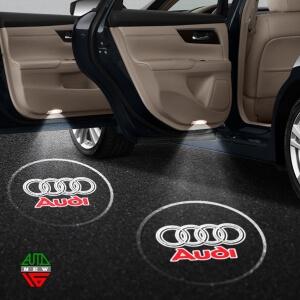 Лазерная проекция с логотипом Audi