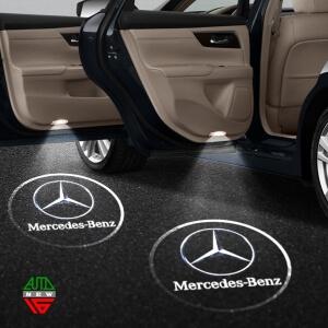 Лазерная проекция с логотипом Mercedes