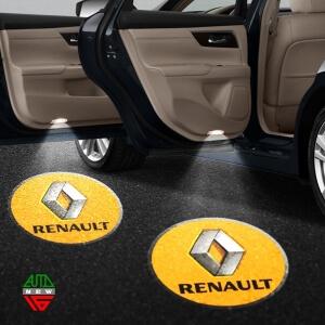 Лазерная проекция с логотипом Renault
