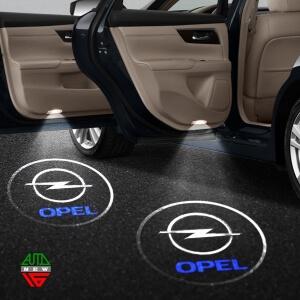 Лазерная проекция с логотипом Opel