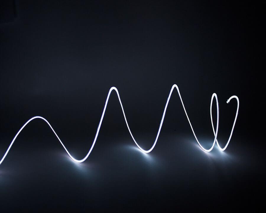Белая неоновая нить, 3 метра, фото 3