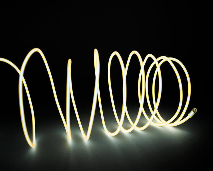 Желтая неоновая нить, 3 метра, фото 3