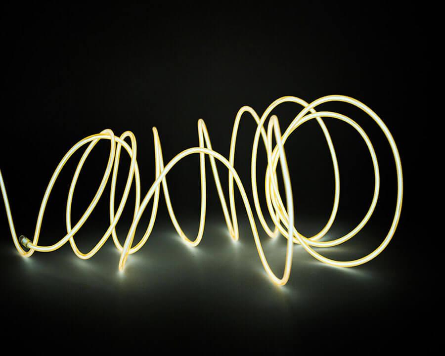 Желтая неоновая нить, 3 метра, фото 4