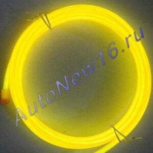 Желтая неоновая нить, 3 метра