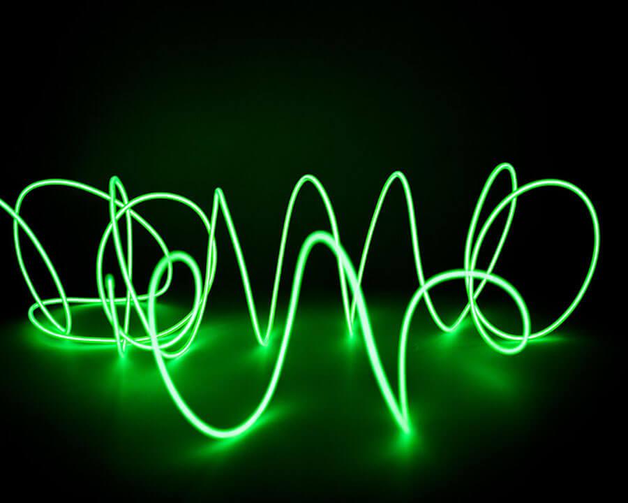 Зелёная неоновая нить, 3 метра, фото 4