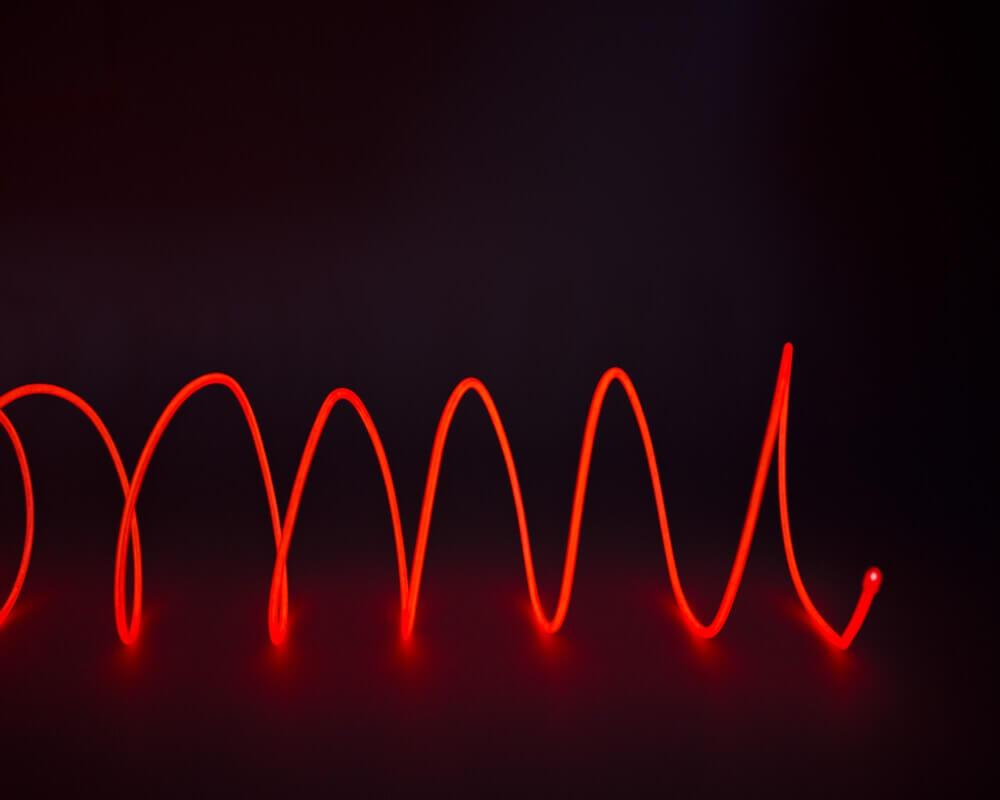 Красная неоновая нить, 3 метра, фото 2