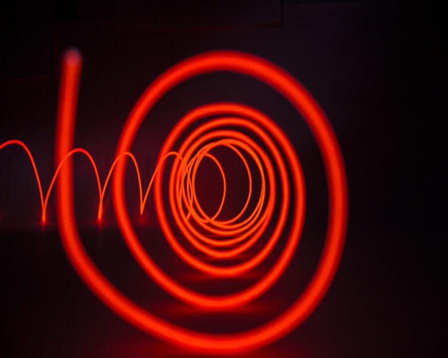 Красная неоновая нить, 3 метра, фото 3