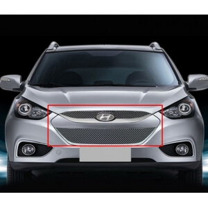 Хромированная решетка радиатора Hyundai Tucson / IX35 (Верхняя)