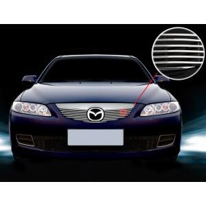 Хромированная решетка радиатора Mazda 6 (2005-2007)
