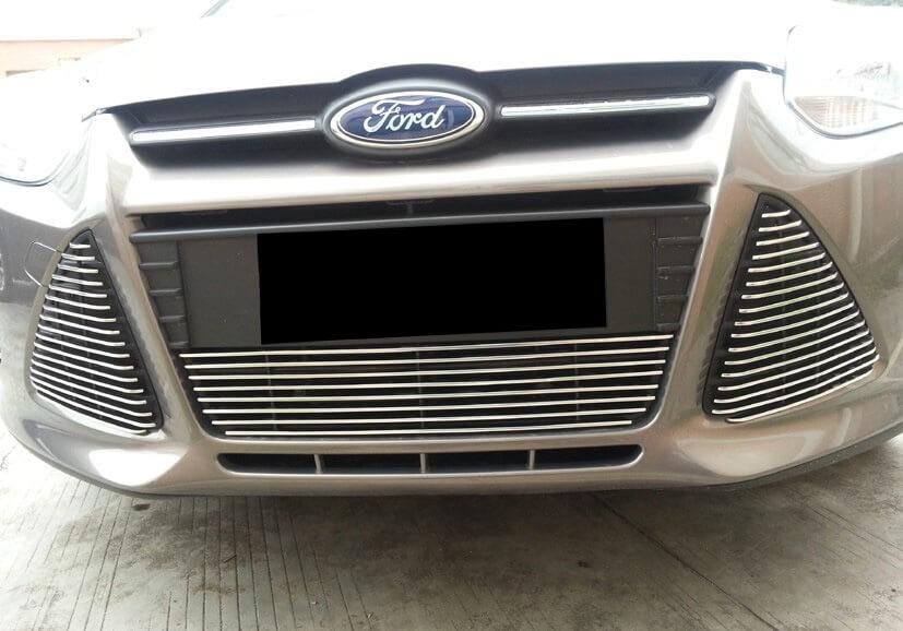 Хромированная решетка радиатора Ford Focus 3 (2011- 2015)