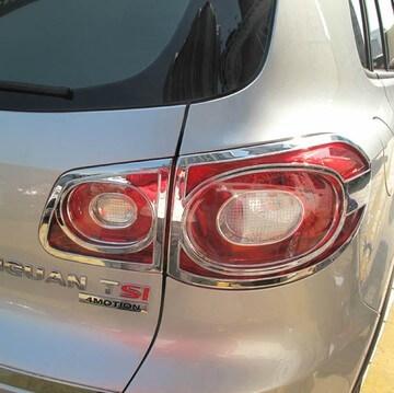 Хромированные накладки на задние фары Volkswagen Tiguan (2007-2011)