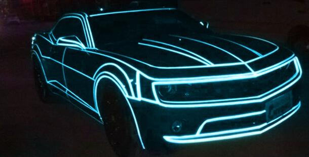 Синяя светоотражающая наклейка (5м.)