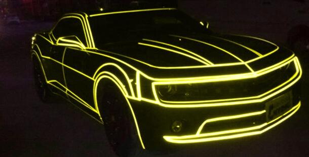 Желтая светоотражающая наклейка 5м.