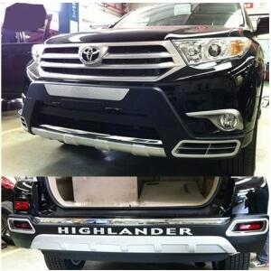Защитная накладка бампера Toyota Highlander (2010-2014)