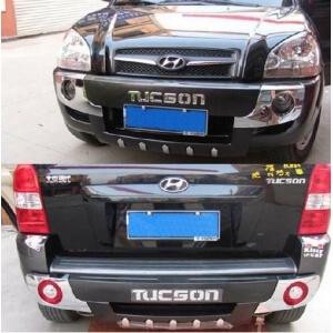 Защитная накладка бампера Hyundai Tucson (2004-2010) (2 вариант)