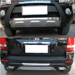 Защитная накладка бампера Hyundai Tucson JM (2013-2015)
