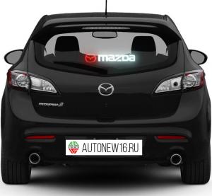 Неоновая наклейка Mazda