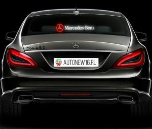 Неоновая наклейка Mercedes