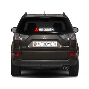 Неоновая наклейка Mitsubishi