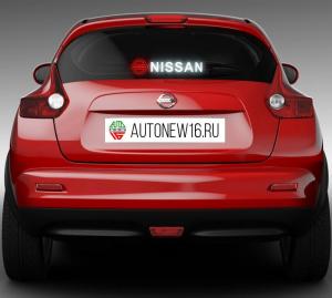 Неоновая наклейка Nissan