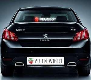 Неоновая наклейка Peugeot