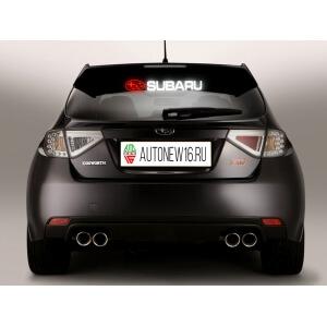 Неоновая наклейка Subaru