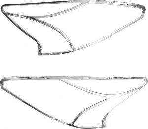 Хромированные накладки на передние фары Nissan Teana