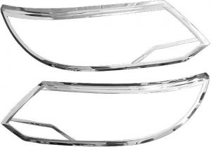 Хромированные накладки на передние фары Volkswagen Tiguan (2010-2015)