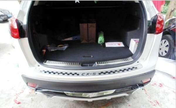 Накладка на бампер Mazda CX-5 (2 вариант)