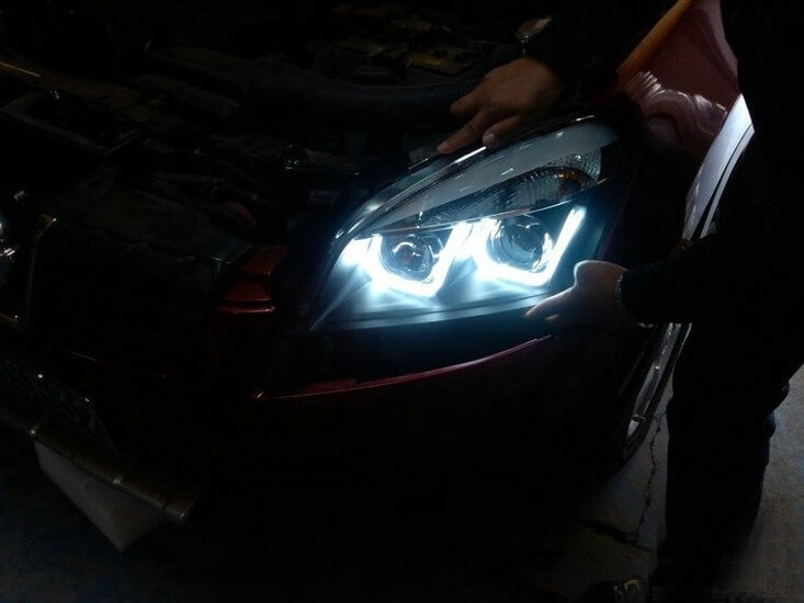 Тюнинговая оптика Nissan Qashqai 2008-2013, фото 3