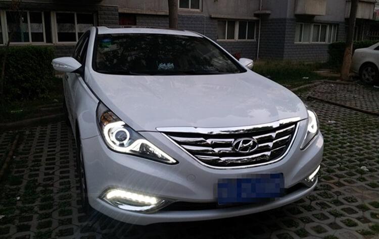 Тюнингованные фары Hyundai Sonata