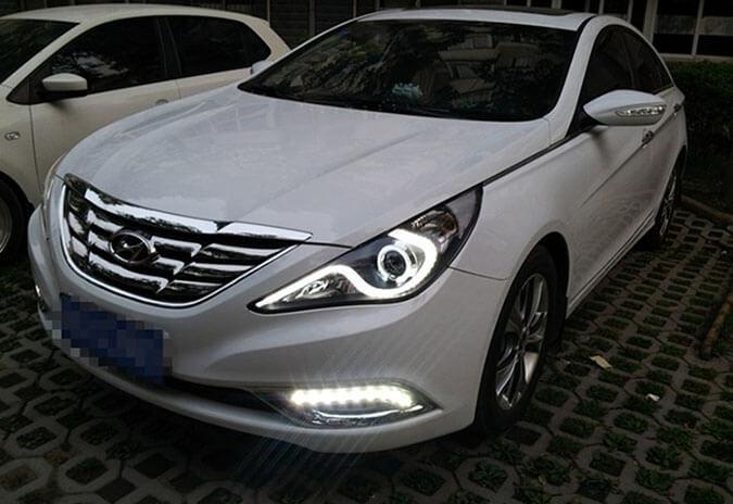 Тюнингованные фары Hyundai Sonata, фото 3