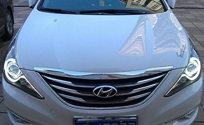 Тюнингованные фары Hyundai Sonata, фото 4