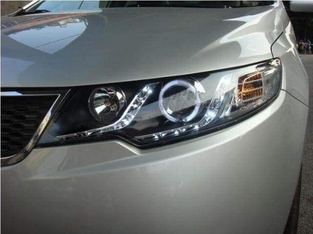 Тюнингованные фары Kia Cerato 2009-2012