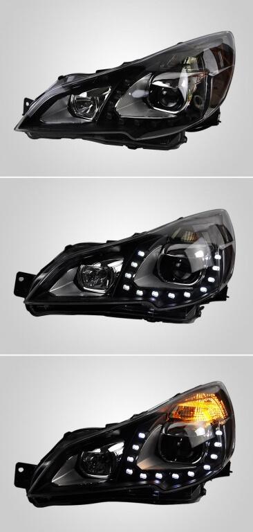 Тюнингованные фары Subaru Outbak 2009-2012