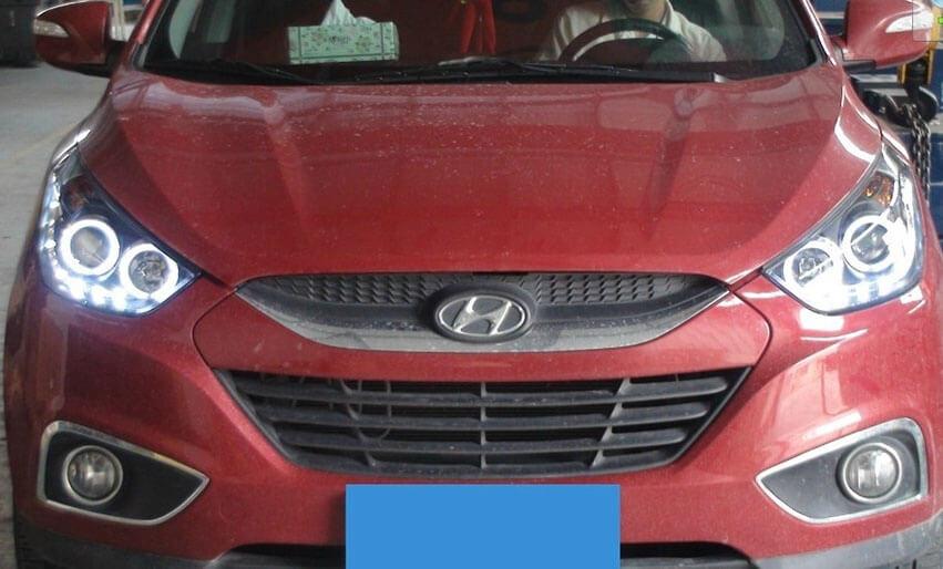 Тюнингованные фары Hyundai IX35 (2010-2013), фото 2