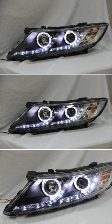Тюнингованные фары Kia Optima 2011-2012