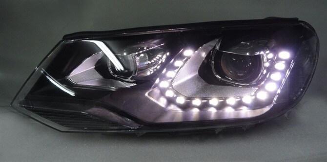 Тюнингованные фары Volkswagen Touareg 2011- 2013
