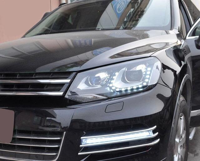 Тюнингованные фары Volkswagen Touareg 2011- 2013, фото 2