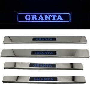 Накладки на пороги Лада Гранта (2011+)