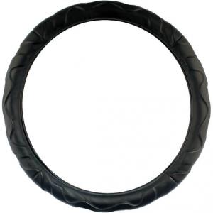 Оплетка черная кожаная