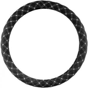 Оплетка черная с белыми нитями
