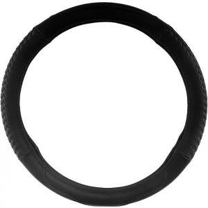 Оплетка на руль черная со сплетенными вставками