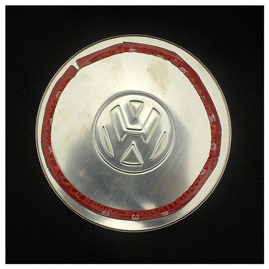 Накладка на крышку бензобака Volkswagen Polo 2001-2009, фото 2