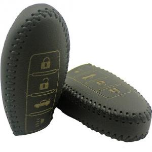Кожаный чехол на ключи Nissan Teana (KCC-351)