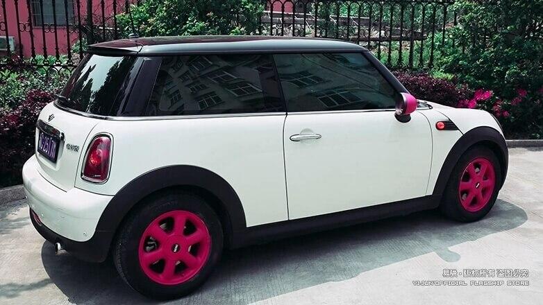 Розовая резиновая краска