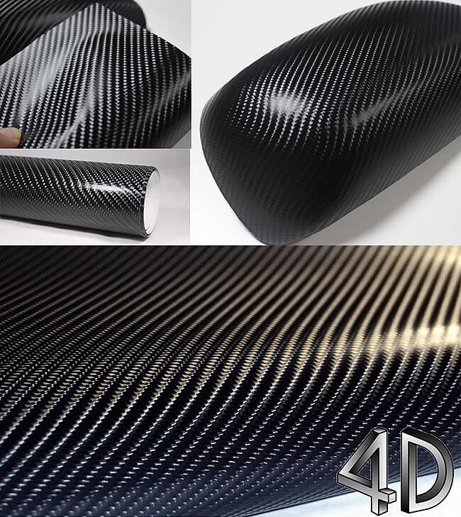 Черная карбоновая 4D пленка (1х1,52см), фото 3