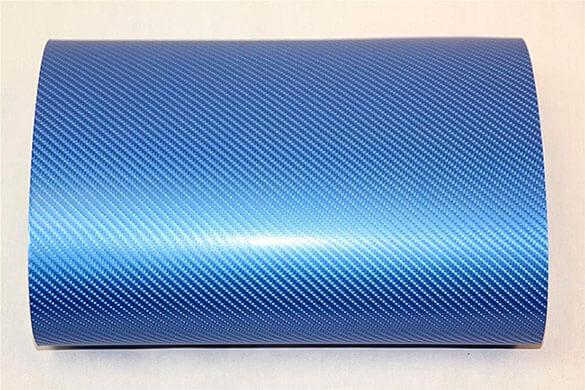 Голубая карбоновая 4D пленка (1х1,52см), фото 2
