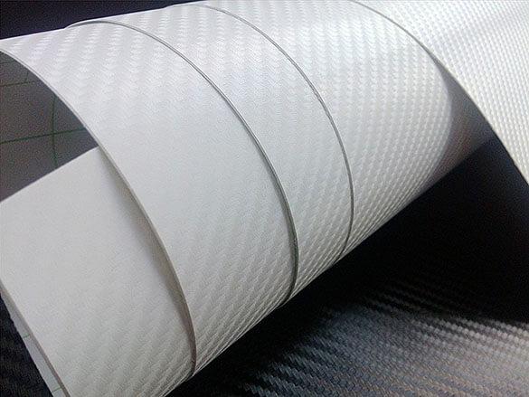 Белая карбоновая 4D пленка (1х1,52см), фото 3